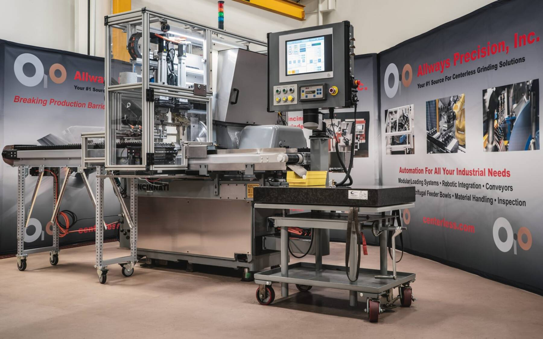 Automated Cincinnati #2OM CNC Centerless Grinder